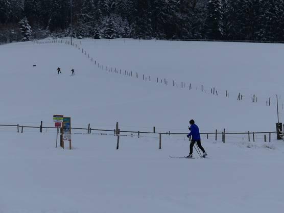 Auch die Langlaufloipen wurden benutzt – der Skilift auf dem Horben ist seit Samstag geöffnet.