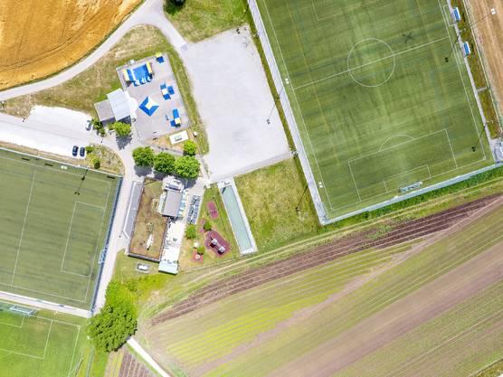 Die Freizeit- und Sportanlage Werd steht auf Geroldswiler Boden.
