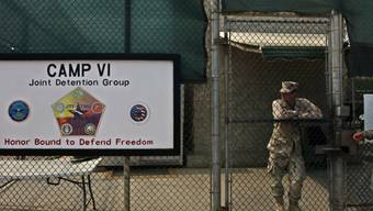 Soldat im US-Gefangenenlager Guantánamo (Archiv)