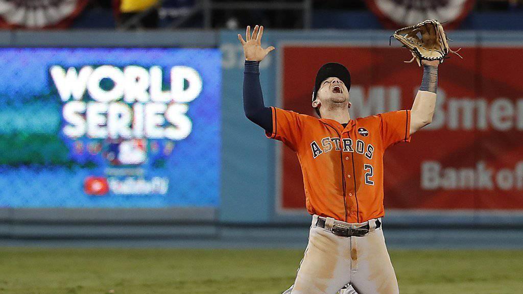Houstons Alex Bregman kann den ersten World-Series-Titel der Astros noch kaum fassen