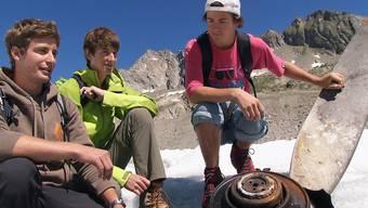 Bergsteiger finden Propeller auf dem Gauligletscher