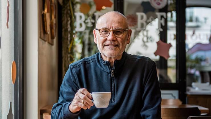 Peter Stalder in der Brasserie Fédérale in Solothurn.