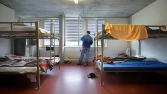 Zimmer eines Asybewerheims (Symbolbild)