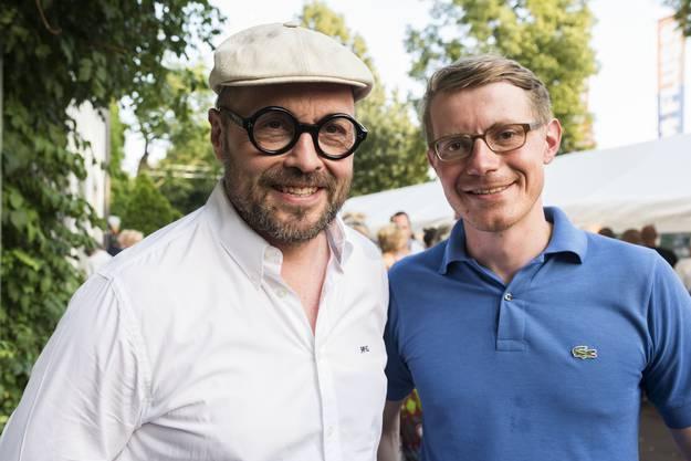 Gut gelaunt. Angelo Gallina (links) und Elias Schäfer von der FDP.