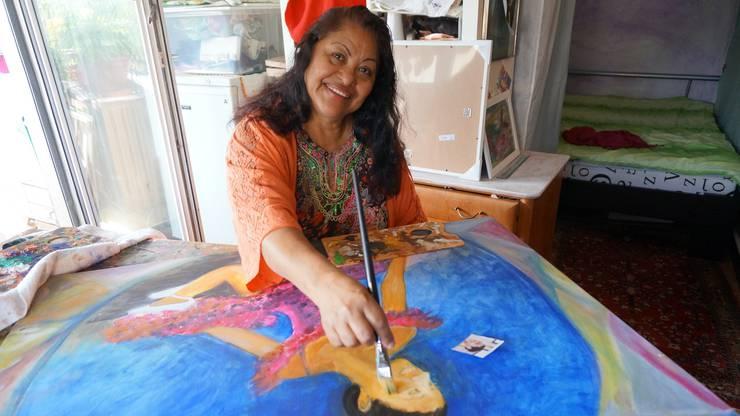 Consuelo Pfister-Dias malt die Tochter einer guten Freundin