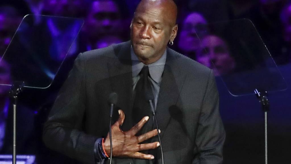 Michael Jordan hielt im Februar eine Trauerrede bei der Gedenkfeier für Kobe Bryant