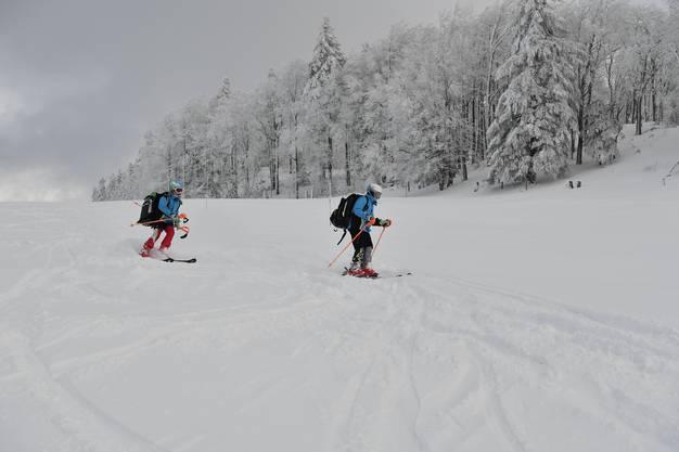 Auch auf der Piste beim Schlepplift gibt es viel Schnee