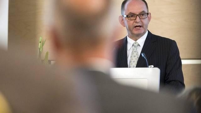 Rudolf Stämpfli, Präsident Schweizer Arbeitgeberverband, spricht am Arbeitgebertag in Zürich