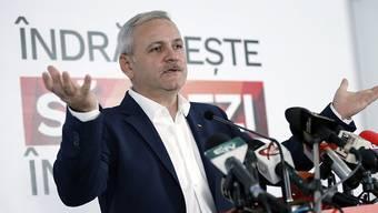 Geht laut Hochrechnungen aus Gewinner aus den Wahlen hervor: Liviu Dragnea von den rumänischen Sozialdemokraten.