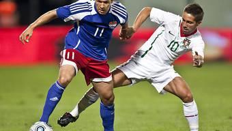 Franz Burgmeier (links) erreichte mit Vaduz ein 0:0 in Georgien.