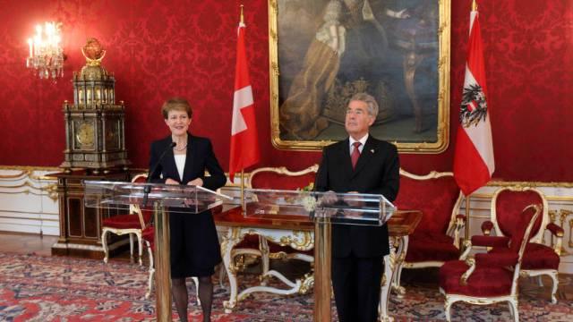 Bundespräsidentin Sommaruga und Amtskollege Fischer