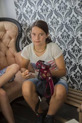 Eine Teilnehmerin mit ihrer eigenen Kamera