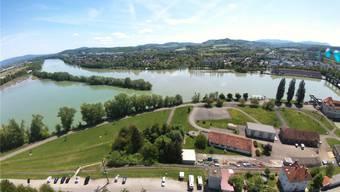 Der Stromversorger Energiedienst AG plant auf dem Areal des Kraftwerks Grenzach-Wyhlen (bei den drei Pappeln) eine Wasserstoffanlage. zvg