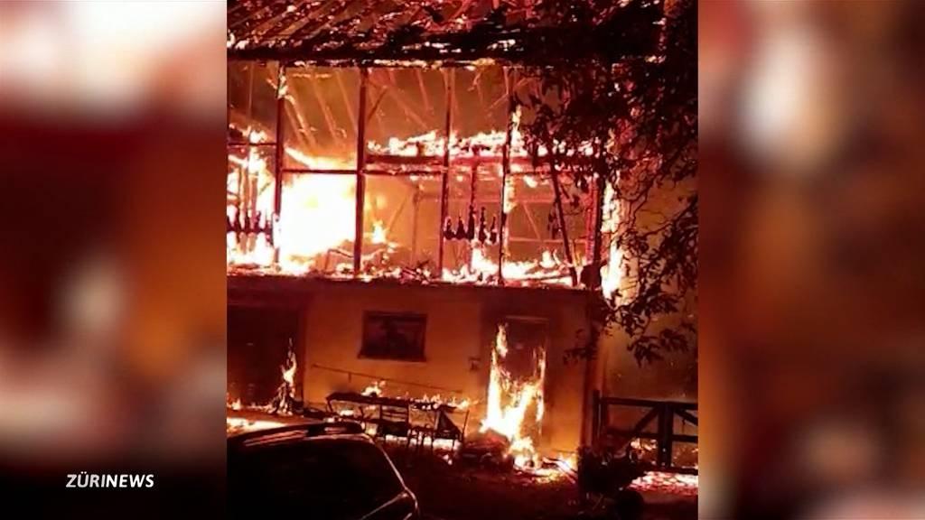 Ponyhof Germann in Winterthur steht nach Brand vor Ruin
