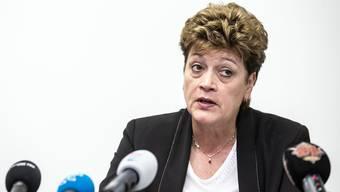 Regierungsrätin Silvia Steiner während der Medienkonferenz des Kanton Zürichs am Freitag, 13. März.