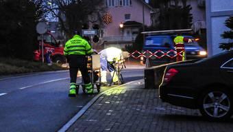 Die Unfallstelle auf der Büelisackerstrasse.