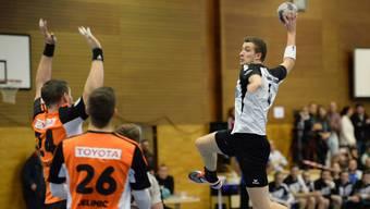 Kevin Hablützel (r.) konnte auch heute mit der HSG Leimental wieder einen Sieg einfahren.