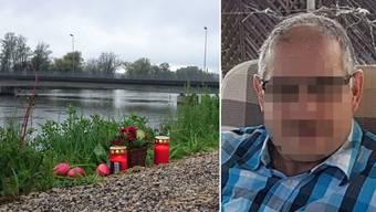 Der Vermisste aus Döttingen wurde tot aufgefunden – Kerzen am Aaredamm gedenken ihm.