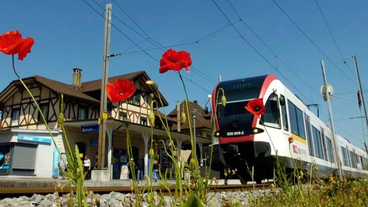 Die Seetalbahn von Lenzburg AG nach Luzern ist eine wichtige SBB-Regionalstrecke. Sie wurde ab dem Jahr 2000 für rund 200 Millionen Franken saniert. (Archivbild)