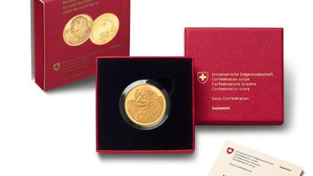 Die neue «Barry»-Goldmünze der Eidgenössischen Münzstätte Swissmint kostet 580 Franken.