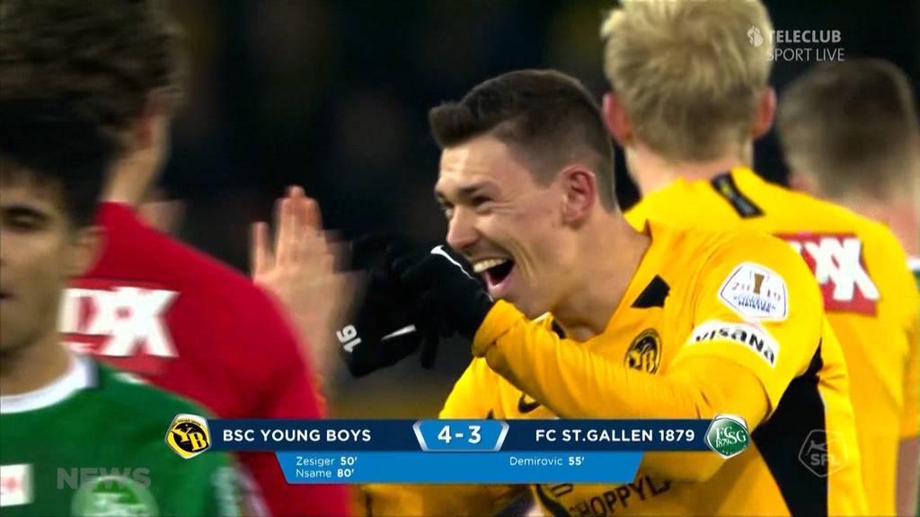 Sieg für YB im Heimspiel gegen FC St. Gallen