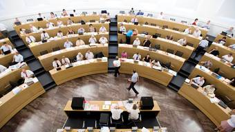 Blick in den Saal des Grossen Rates. (Archiv)