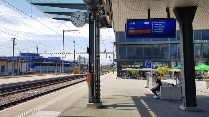 Am Bahnhof Solothurn fielen Züge aus.
