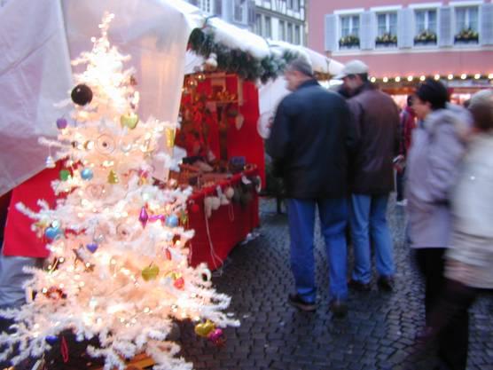 Impressionen vom Weihnachtsmarkt in Zofingen.