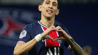 Angel Di Maria erzielte beim 3:0 von Paris Saint-Germain gegen Stade Rennes zwei Tore