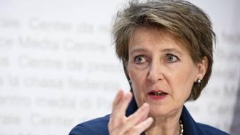 Belästigungs- und Mobbingaffäre: Das Westschweizer Fernsehen (RTS) steht nun auch politisch unter Druck. Nun äussert sich Simonetta Sommaruga dazu. (Archivbild)