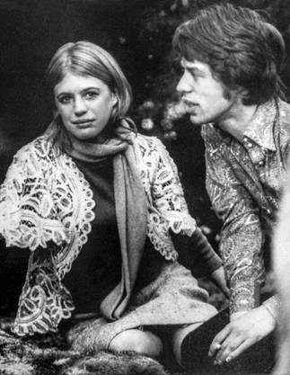 Frühe Liebe: mit Marianne Faithfull 1967 in London.