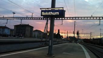 Auch am Bahnhof Solothurn kann jetzt kostenloses Internet genutzt werden.