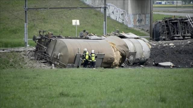 Güterzug entgleist bei Daillens VD