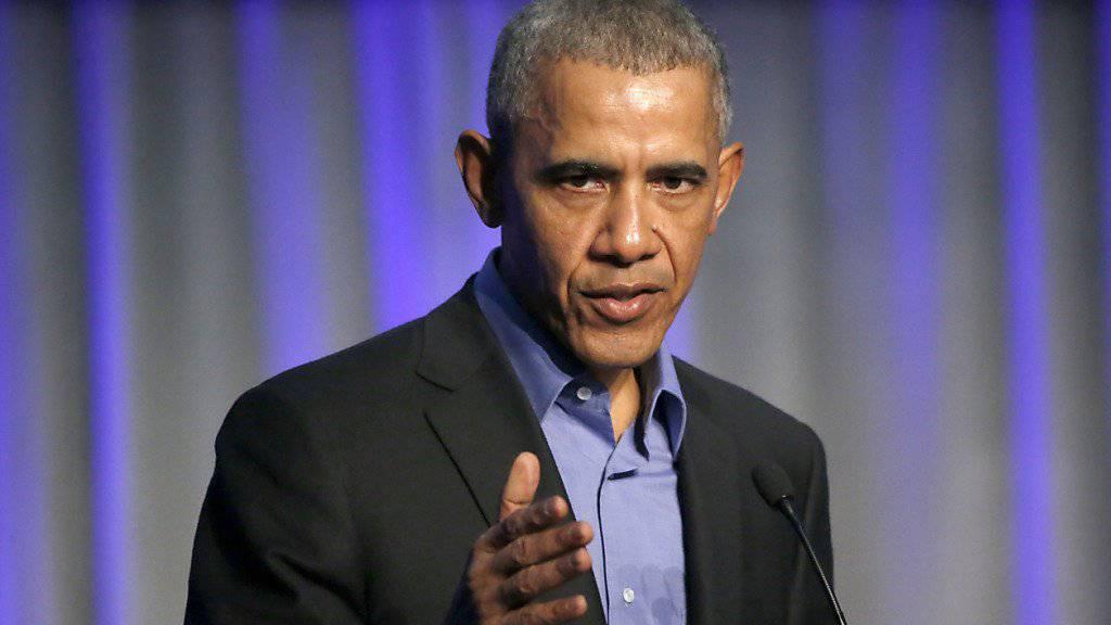 """""""Und dann sind 60 Millionen Menschen gestorben"""": der frühere US-Präsident Barack Obama. (Archivbild)"""