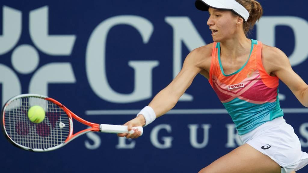 Viktorija Golubic kommt im Final oft einen Schritt zu spät.