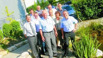 Abschied: Der Vorstand mit Hermann Spahn (vorne in der Mitte).
