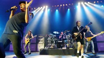 AC/DC mit Sänger Brian Johnson, links, und Gitarrist Angus Young, rechts.