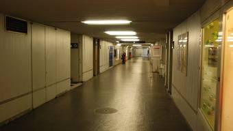 Die Unterführung beim Bahnhof Lenzburg