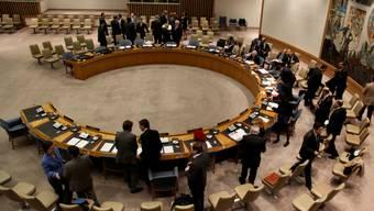 Hier darf Spanien Platz nehmen: Der UNO-Sicherheitsrat (Archiv)