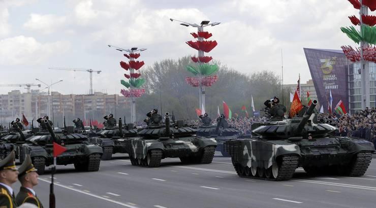 Die Parade zum 75. Jubiläum des Sieges über Nazi-Deutschland fand in Minsk vor tausenden Zuschauern statt.