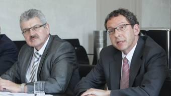 Für Roland Brogli, Urs Hofmann und die drei anderen Aargauer Regierungsräte besteht neu eine Obergrenze für Sitzungsgelder und Spesen.