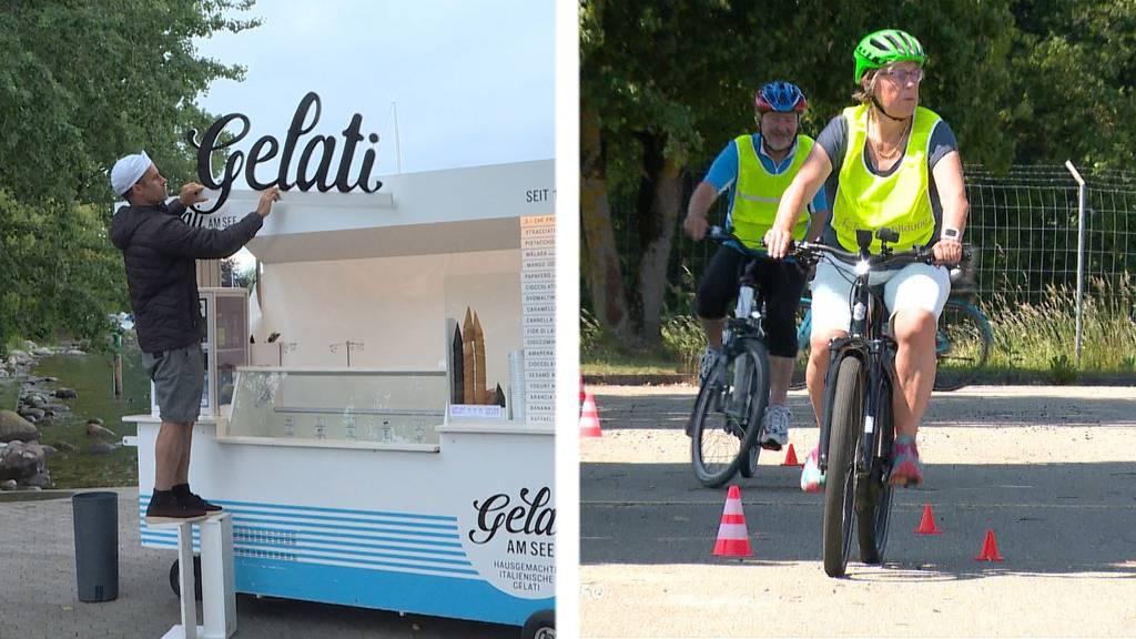 Gewerbepolizei verbietet Glacé-Schriftzug / E-Bike-Kurse für Senioren