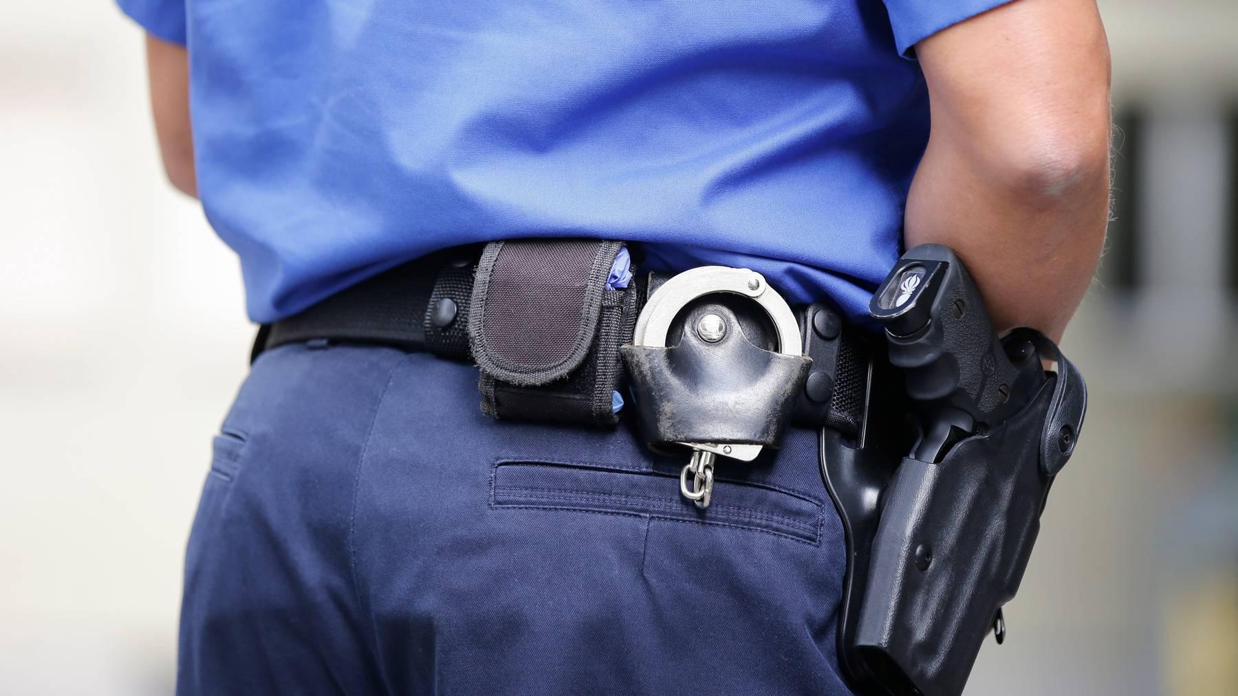 Eine Polizeipatrouille ist laut eigenen Angaben in Basel von rund 50 Personen verbal und zum Teil körperlich angegriffen worden. (Symbolbild)