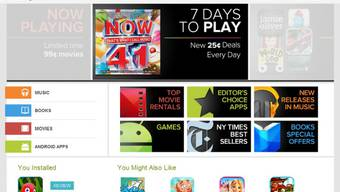 Screenshot der Google Play Website (Archiv)