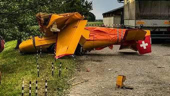 Die beiden Verletzten wurden nach dem Unfall mit Rettungshelikoptern ins Spital geflogen.