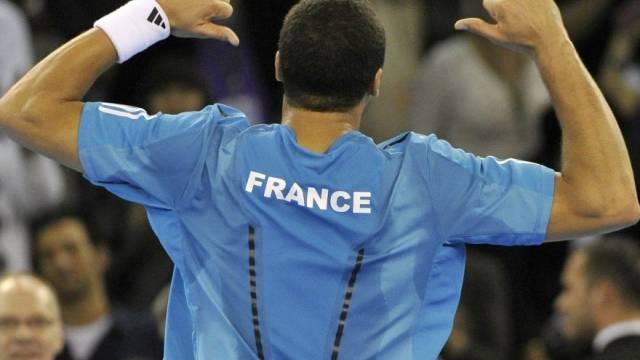 Jo-Wilfried Tsonga sorgte gegen Benjamin Becker für das 2:0 der Franzosen