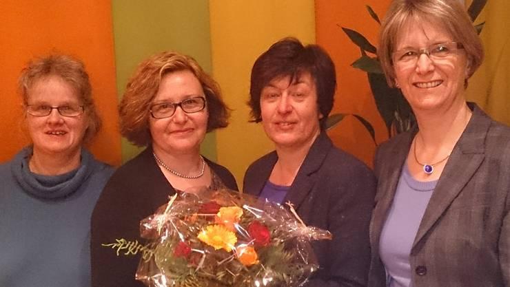 Wiedergewählt, v.l.: Sabine Haller, Brigitte Federspiel, Susanne Heuberger, Esther Meier