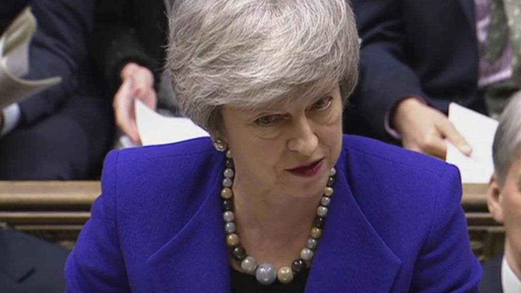 Die britische Premierministerin Theresa May pocht beim Brexit auf Nachverhandlungen mit der EU.