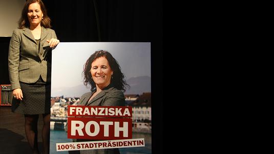 Franziska Roth setzt im Wahlkampf gegen Kurt Fluri auf das Motto «100 % Stadtpräsidentin».