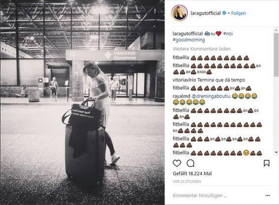 Auch Laura Guts Fotos auf Instagram werden mit Kommentaren überhäuft.
